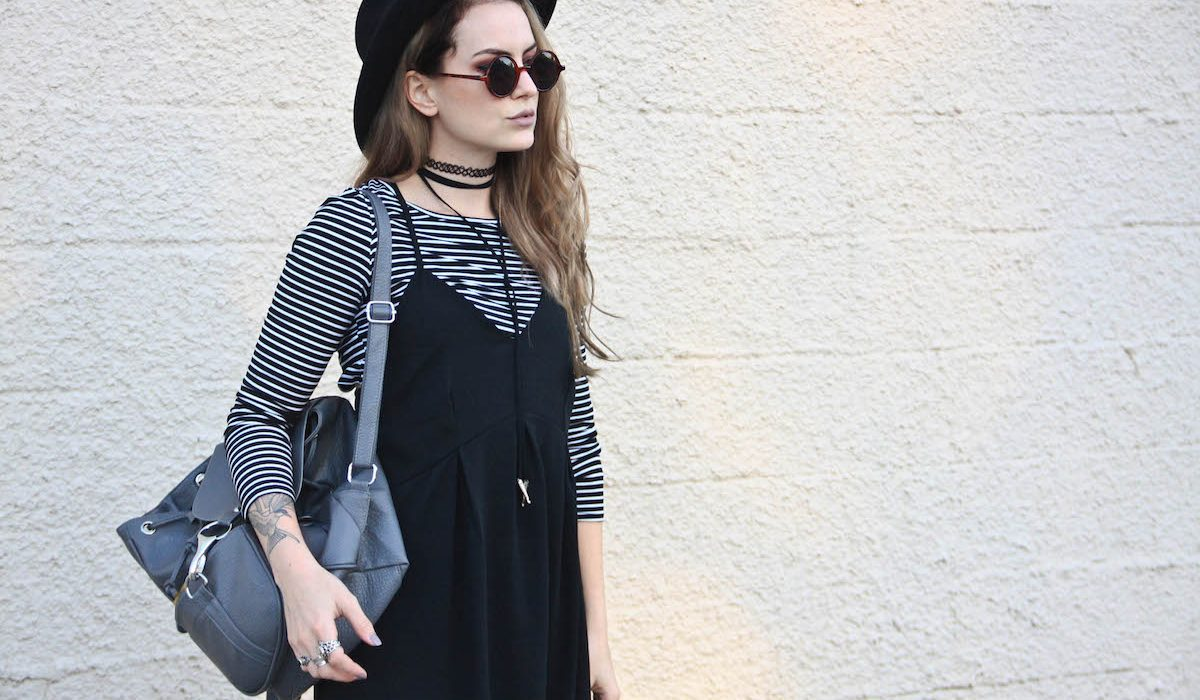 Hot style: T-shirt under a dress