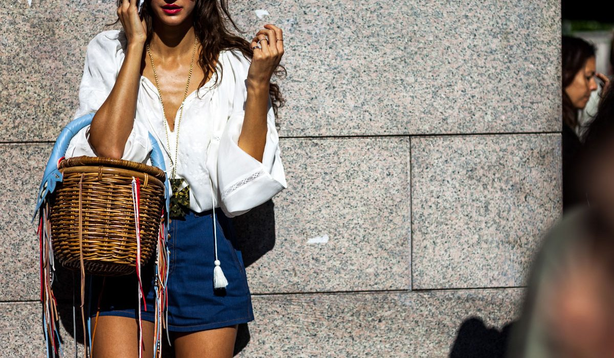 How to wear denim shorts at a mature age