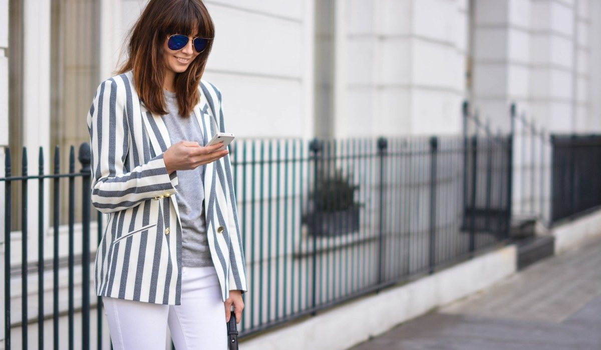 Striped blazers for the win