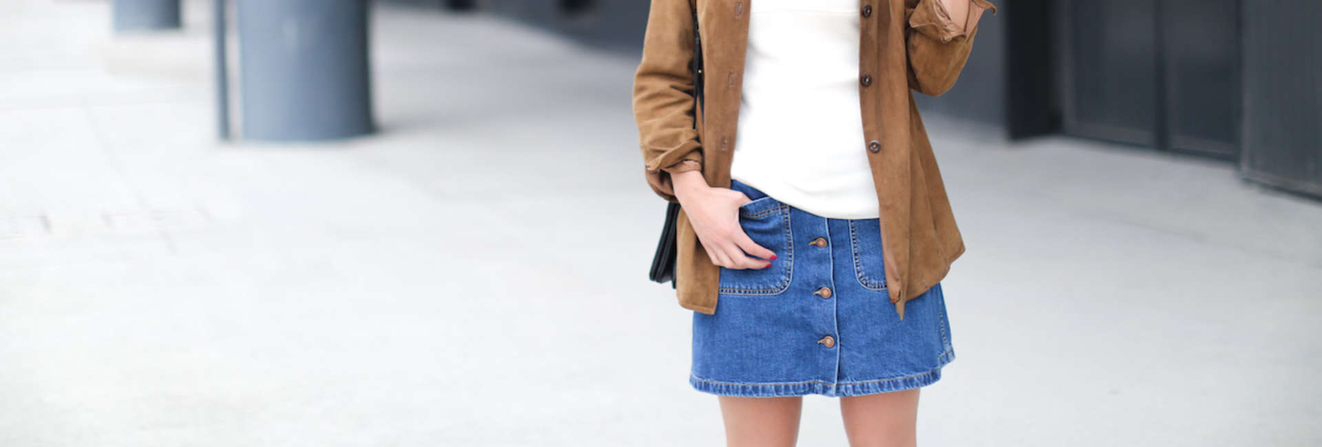 How to wear the timeless denim skirt