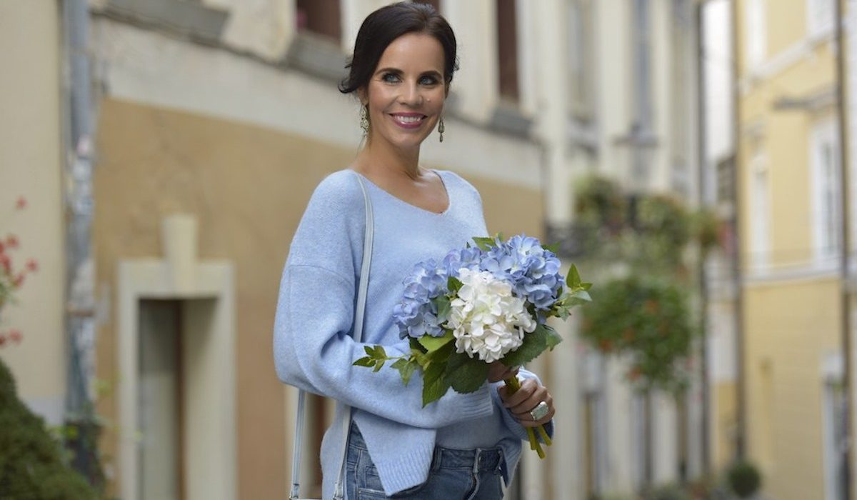 Style of the day: the baby blue knitwear