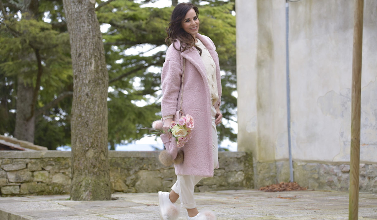 Style of the day: the pink teddy coat