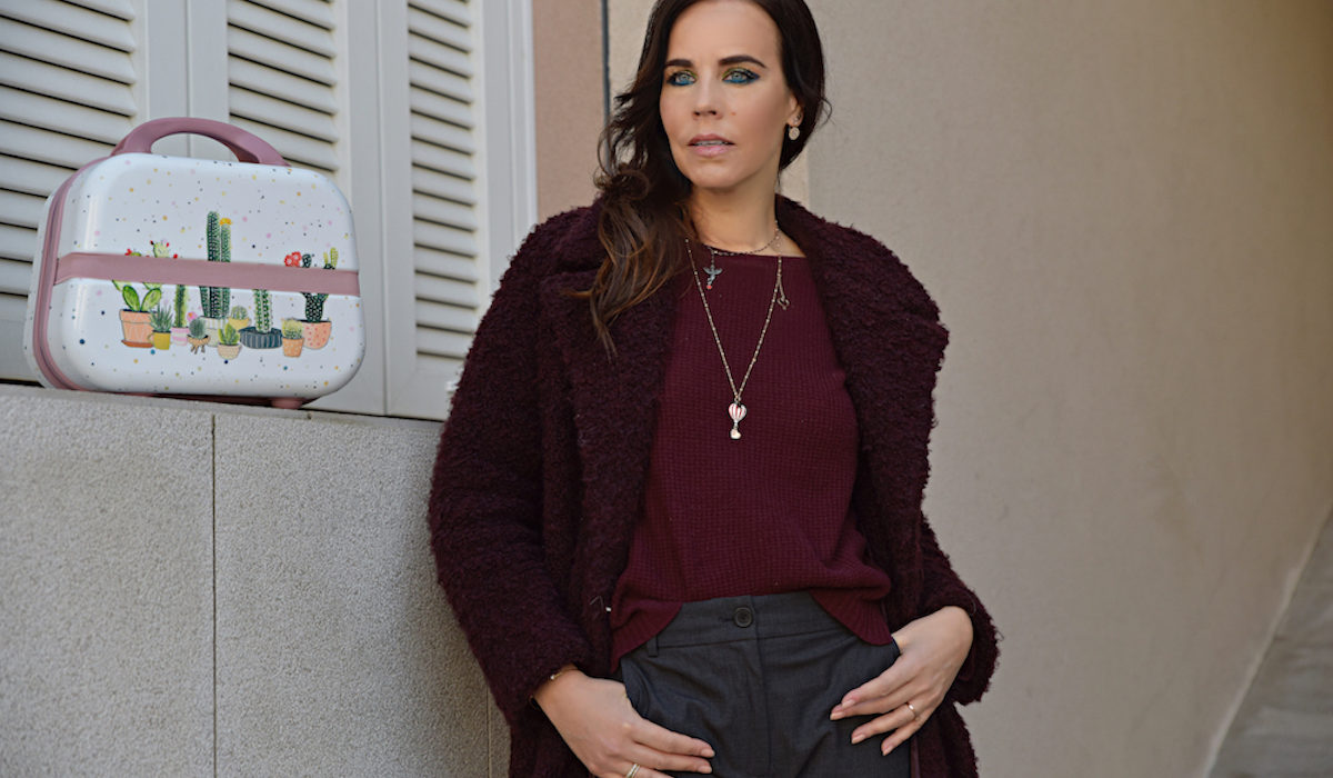 Style of the day: the burgundy coat