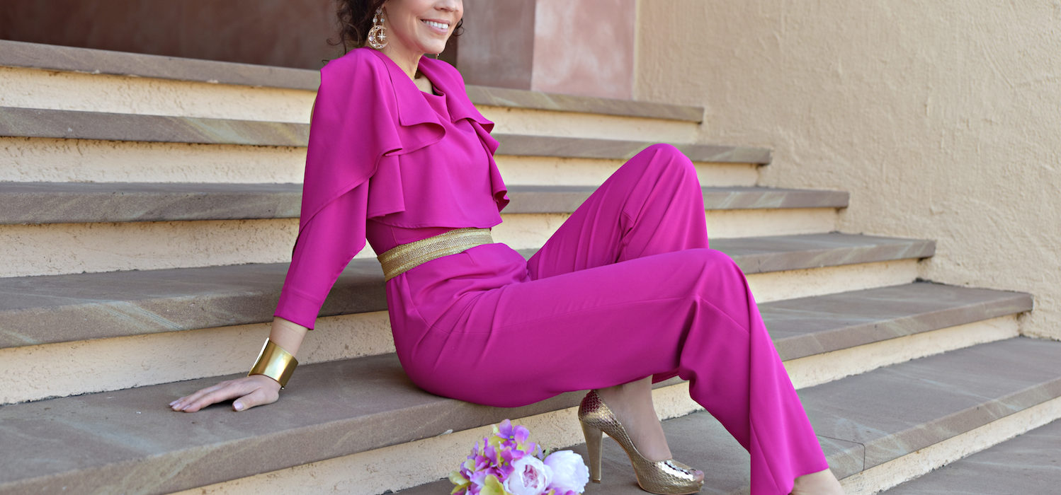 Style of the day: the fuchsia jumpsuit