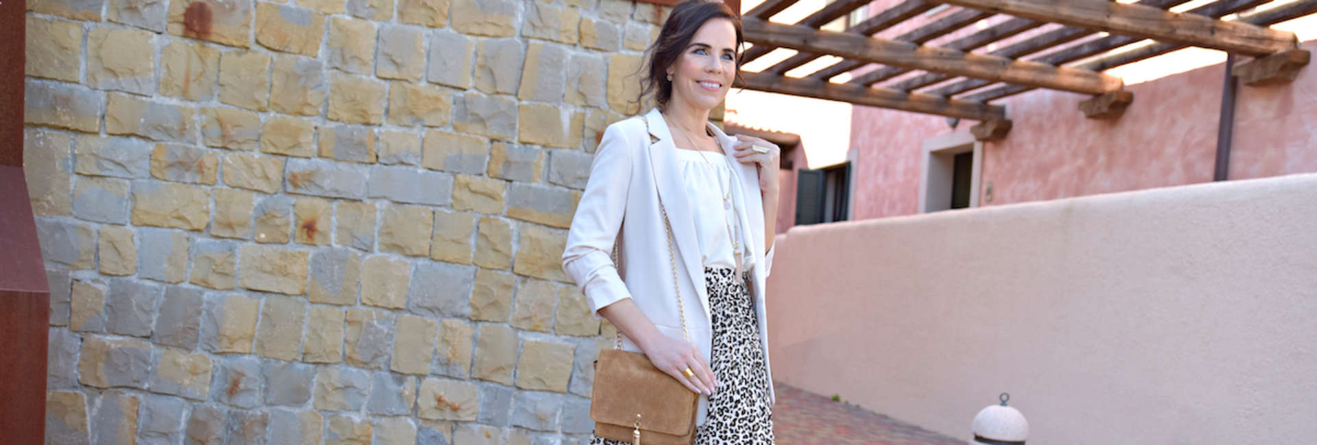 Style of the day: the pleated, leopard skirt
