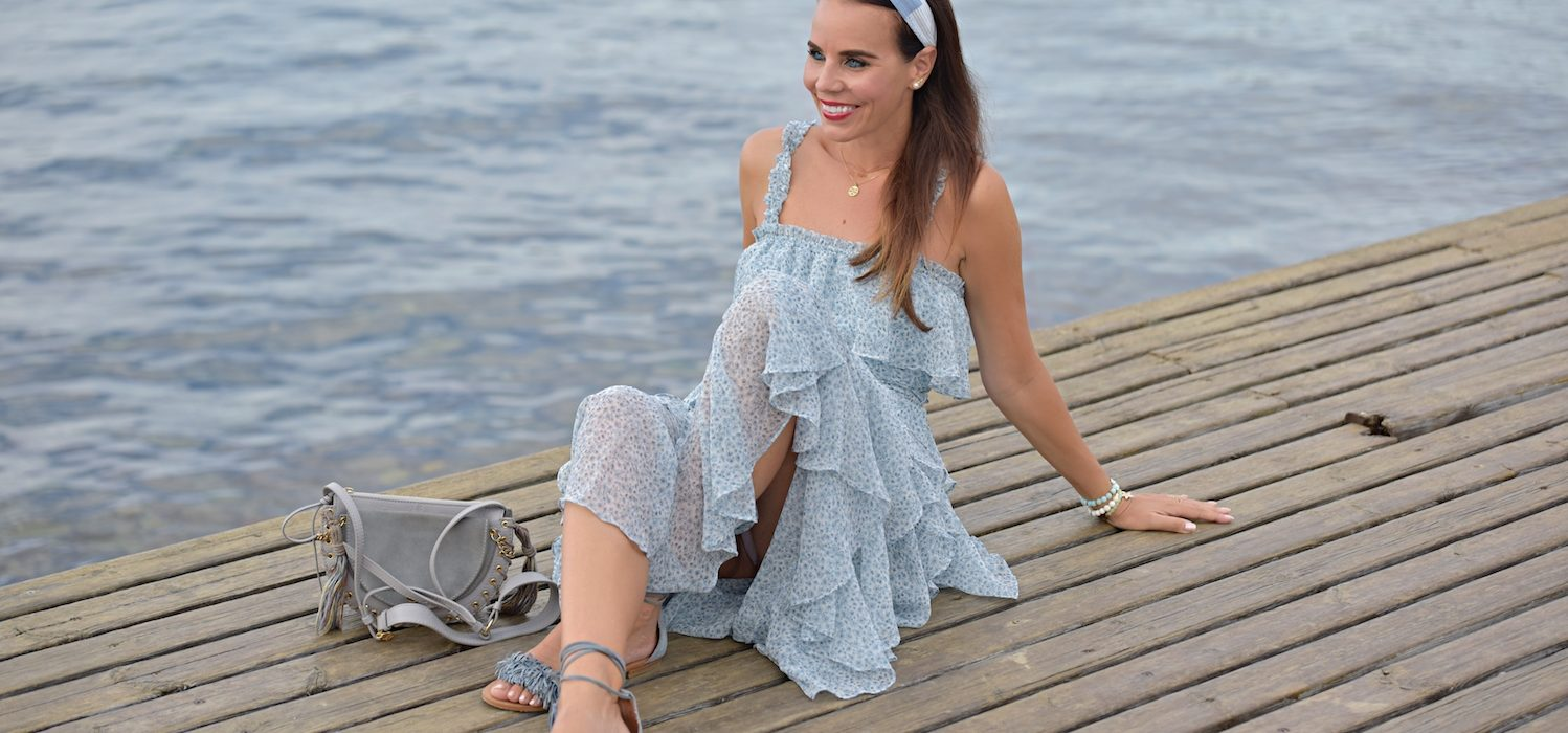 Style of the day: the long, ruffled dress