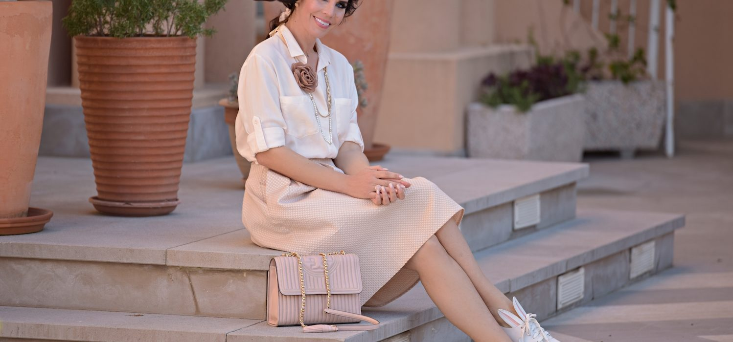 Style of the day: skirt and sneakers