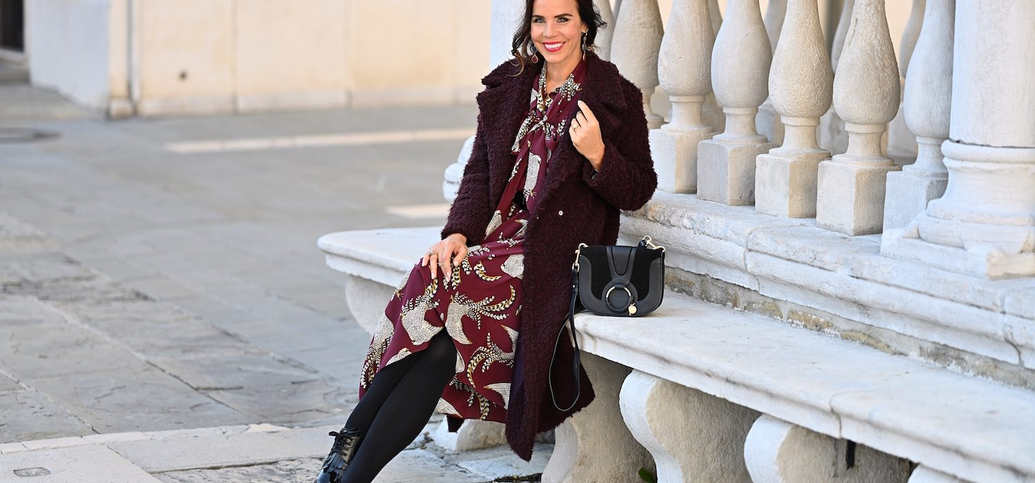 Style of the day: the burgundy dress