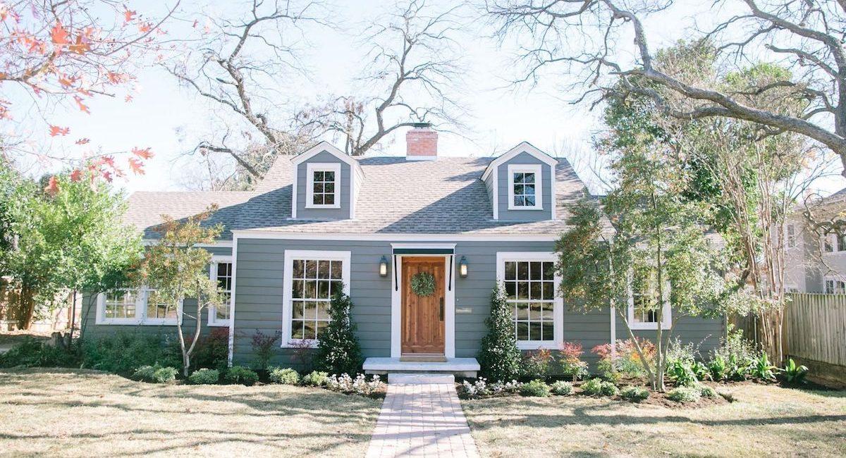 A blue home