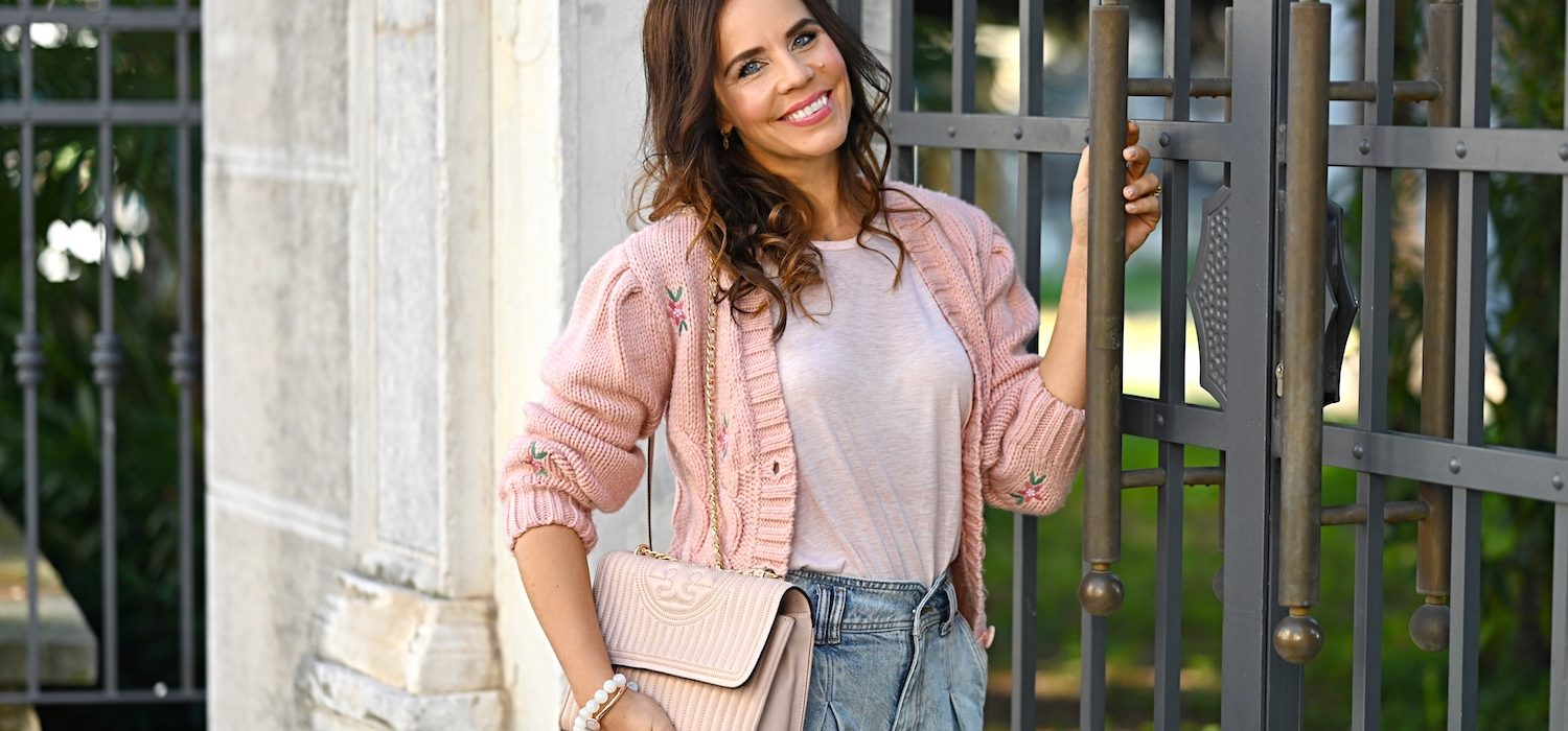 Style of the day: the pink cardigan