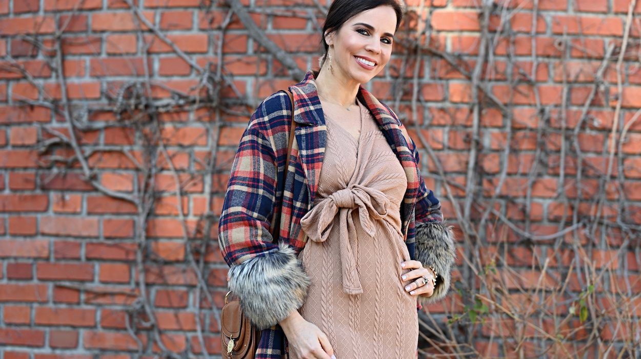 Style of the day: the knitwear camel dress