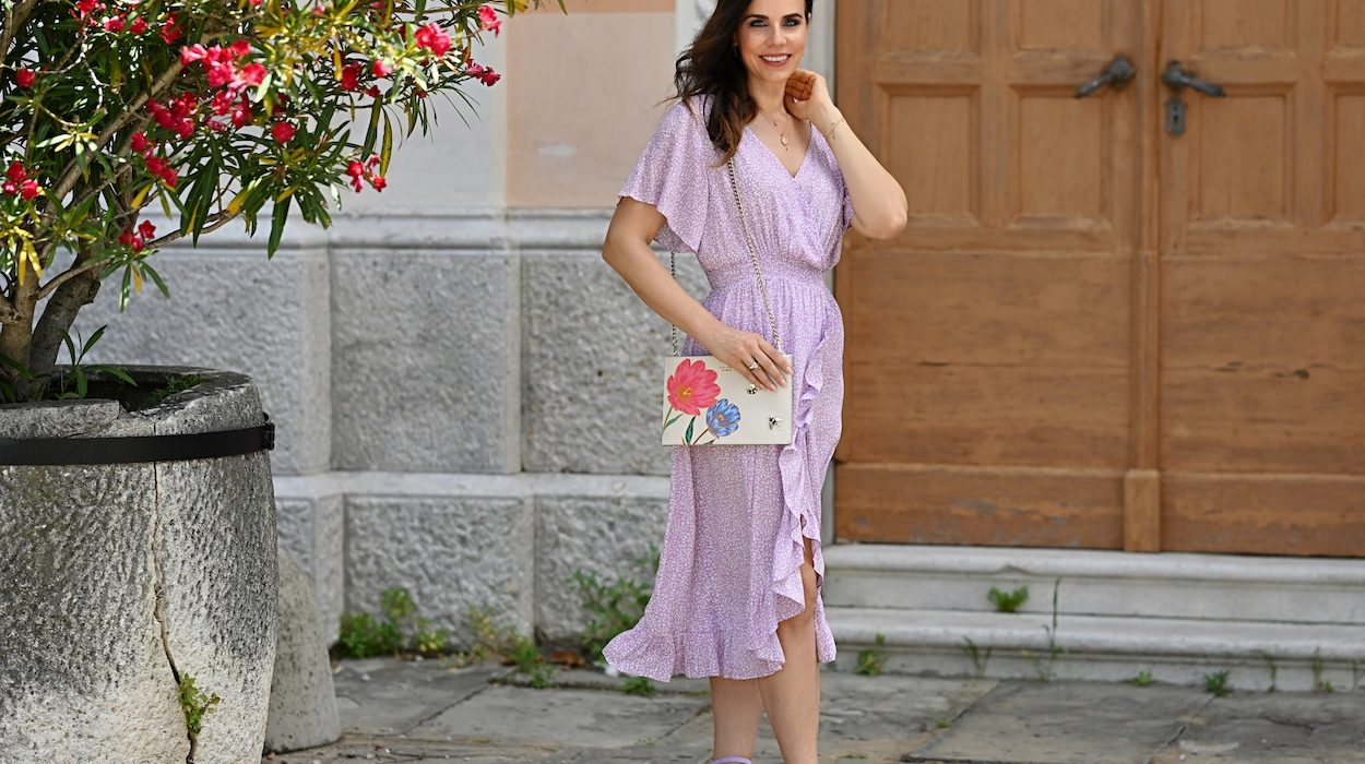 Style of the day: the graceful, lavanda dress