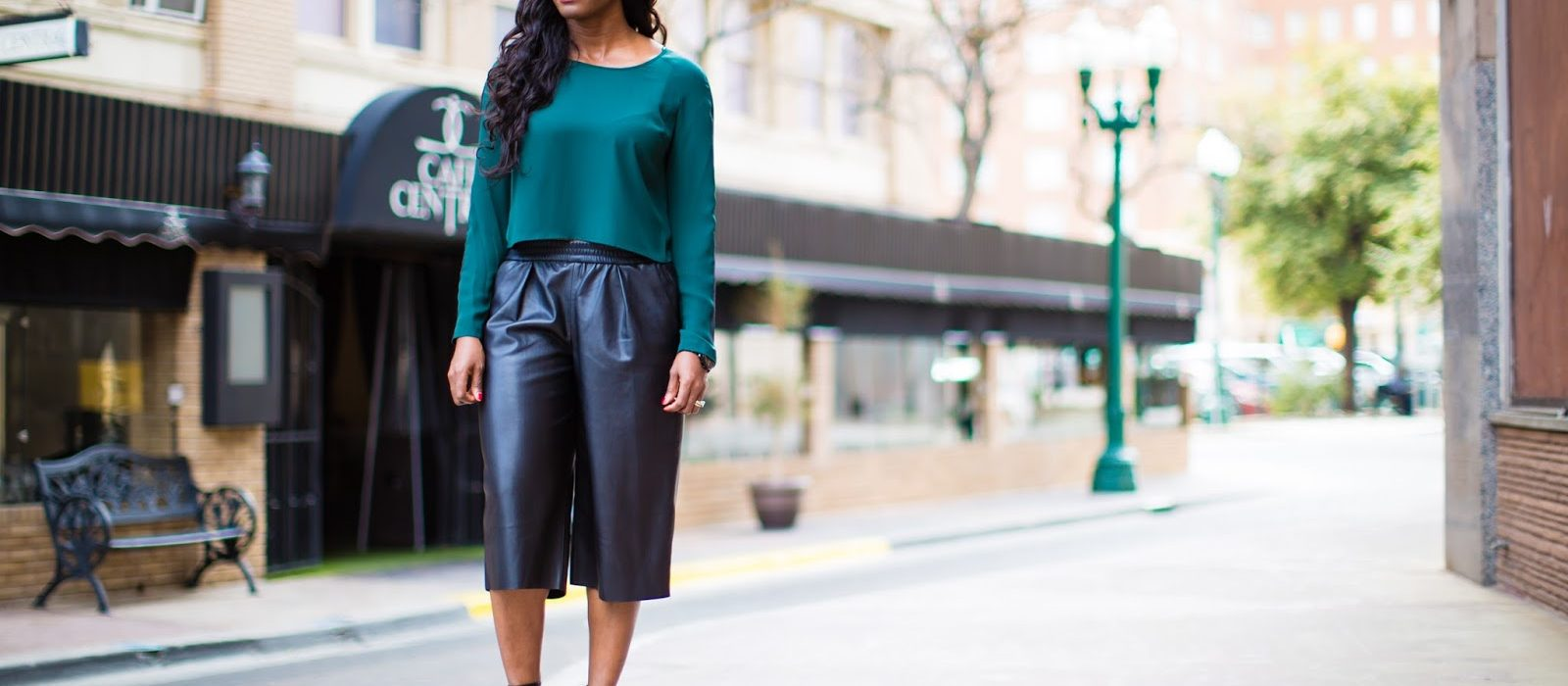 The big leather culottes come back